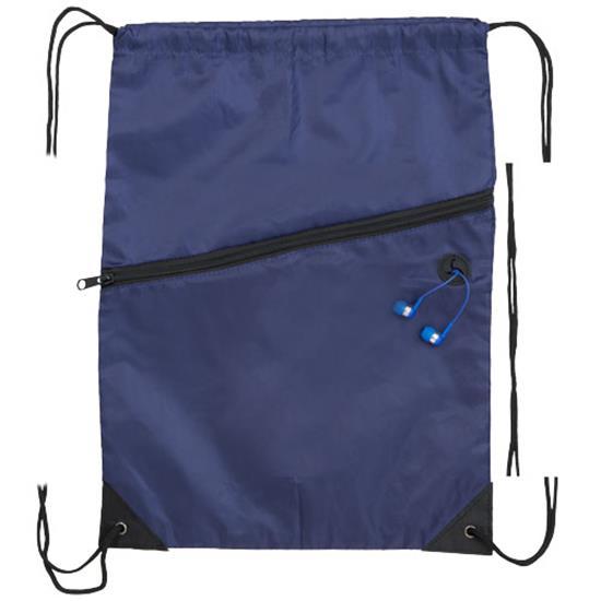Gymnastikpåse Oriole med ficka med tryck Marinblå