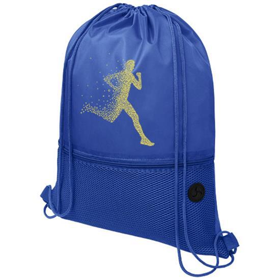 Gymnastikpåse Oriole med nät med tryck Kungsblå