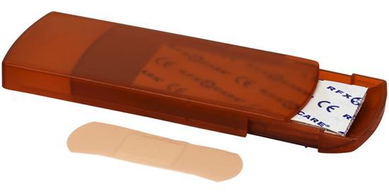 Plåsterlåda Christian 5-delars med tryck Orange