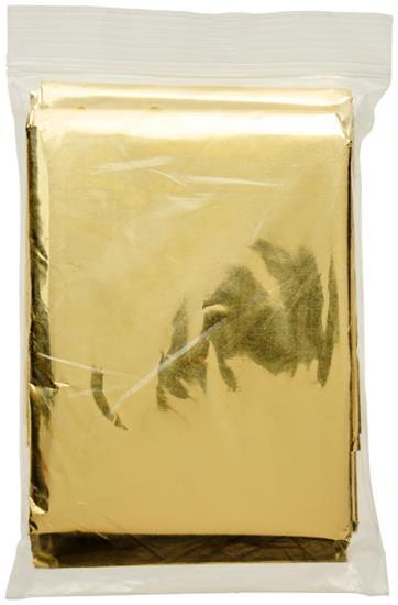 Räddningsfilt Frederik med tryck Guld