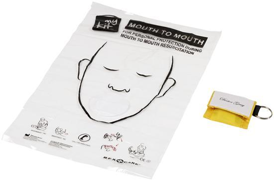 Mun-mot-mun-mask Henrik med tryck Gul