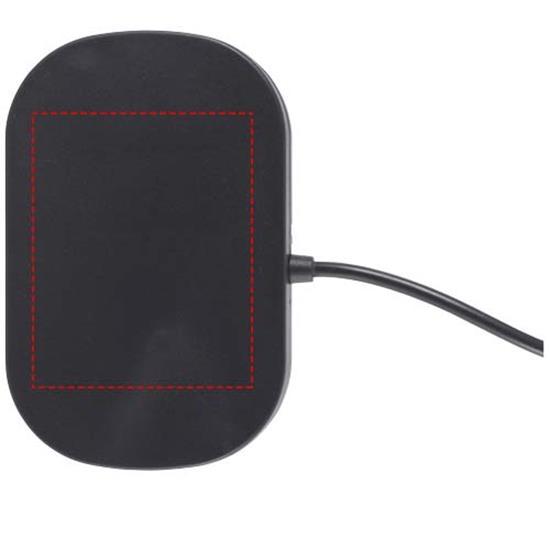 Mobilhållare för bilen Prim med trådlös laddning med tryck Svart
