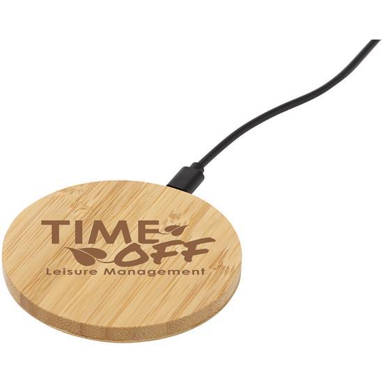 Trådlös laddare Essence Bambu med tryck Brons