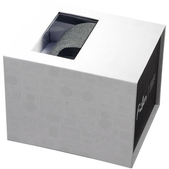 Högtalare Fiber Bluetooth® 3W med trådlös laddare  med tryck Svart