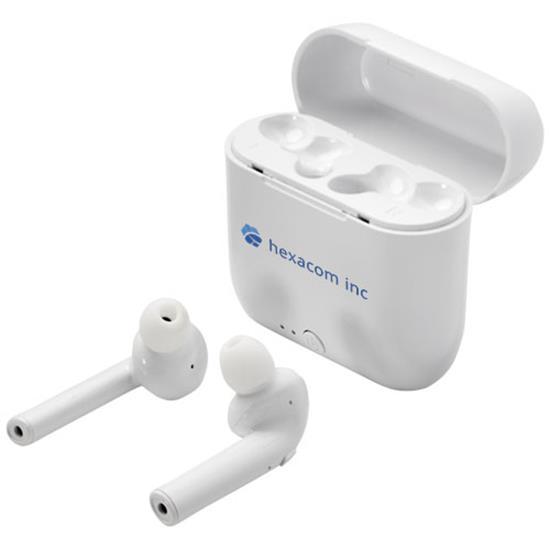 Öronsnäckor Essos Bluetooth® med tryck Vit