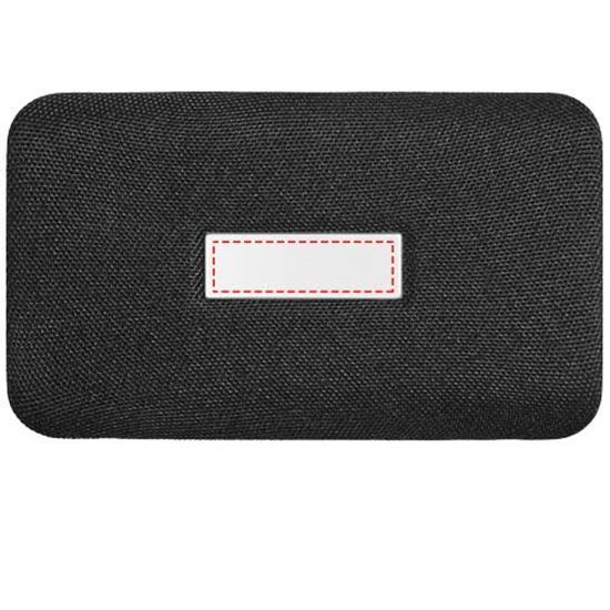 Högtalare Palm Bluetooth® med trådlös powerbank med tryck Svart