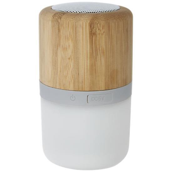 Högtalare Aurea Bluetooth® med lampa med tryck Brons