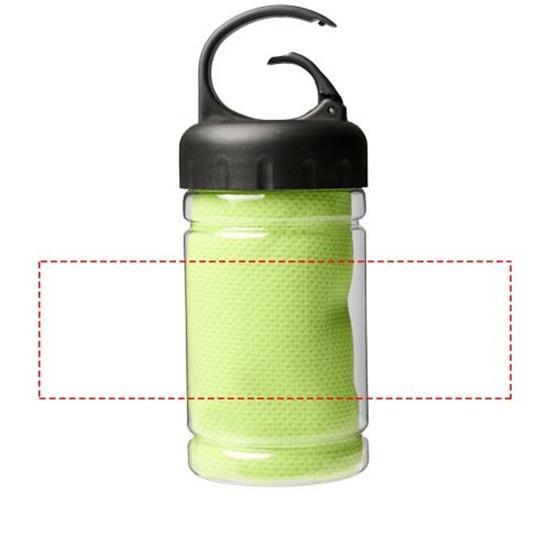 Kylhandduk Remy PET-behållare med tryck Limegrön