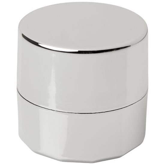 Läppbalsam Luv i metallic med tryck Silver