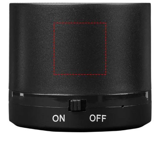 Högtalare Cosmic  Bluetooth® med trådlös laddare med tryck Svart