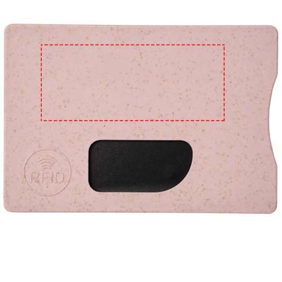 Korthållare Straw RFID med tryck Rosa