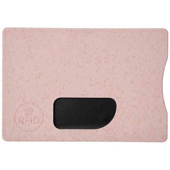 Straw RFID-korthållare ECO med tryck Rosa