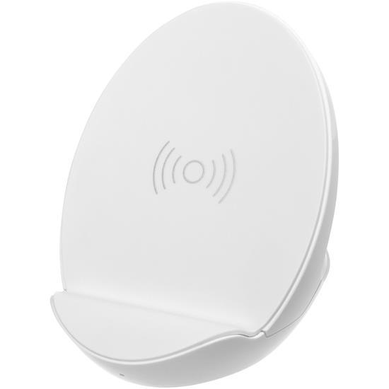 Trådlös laddningställ S10 med högtalare med tryck Vit
