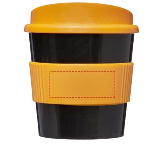 Take-Away Americano® Primo 250ml med grepp med tryck Svart/Orange