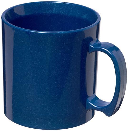 Plastmugg Standard 300 ml med tryck Kornblå