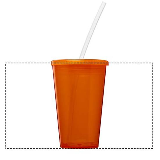 Take-Away Brite-Americano® Stadium 350ml isolerad  med tryck Orange