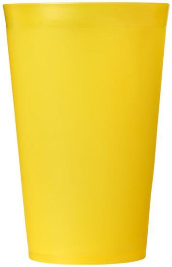 Plastmugg Drench 300 ml med tryck Gul