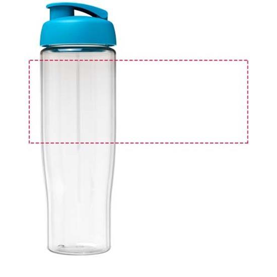 Sportflaska H2O Tempo® 700 ml rPET med uppfällbart lock med tryck Turkos