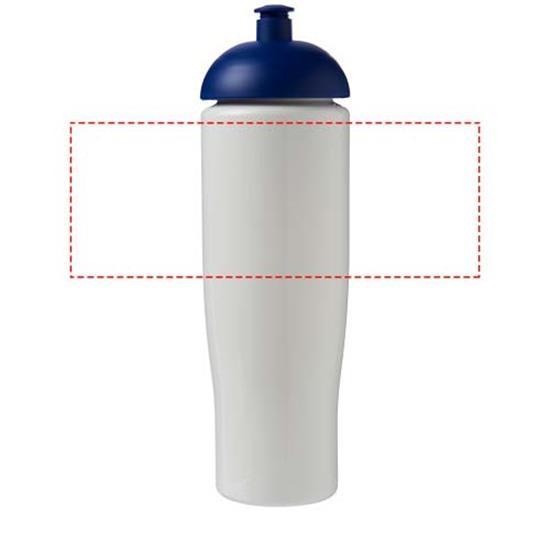 Sportflaska H2O Tempo® 700 ml rPET med tryck Vit/Blå