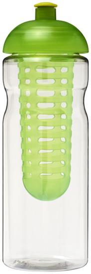 Sportflaska H2O Base® 650 ml rPET med fruktkolv med tryck Limegrön