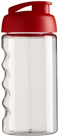 Sportflaska H2O Bop 500 ml rPET med uppfällbart lock med tryck Röd