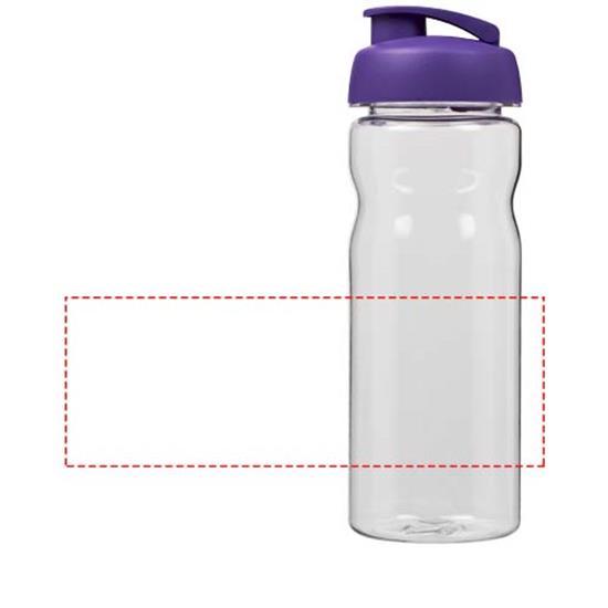 Vattenflaska H2O Base Tritan™ 650 ml med uppfällbart lock med tryck Lila