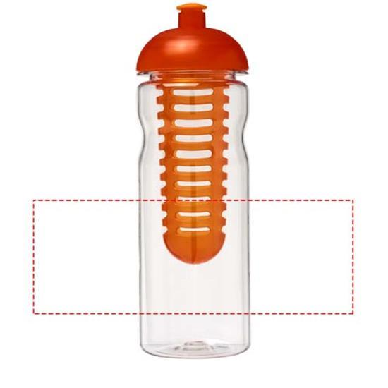Vattenflaska H2O Base Tritan™ 650 ml med fruktkolv med tryck Orange