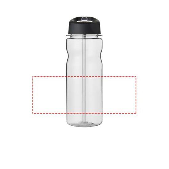 Vattenflaska H2O Base Tritan™ 650 ml med piplock med tryck Svart