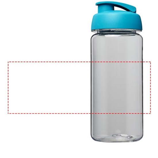 Vattenflaska H2O Octave Tritan™ 600 ml med uppfällbart lock med tryck Turkos