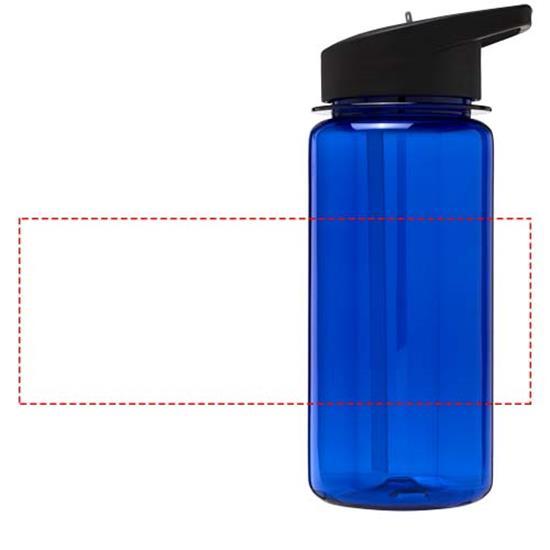 Vattenflaska H2O Octave Tritan™ 600 ml med piplock med tryck Blå/Svart