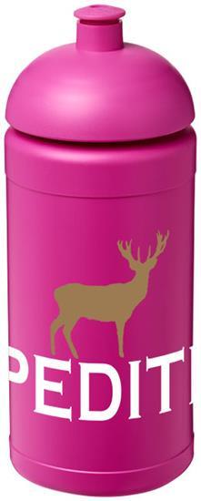 Sportflaska Baseline® Plus 500 ml kupollock med tryck Rosa