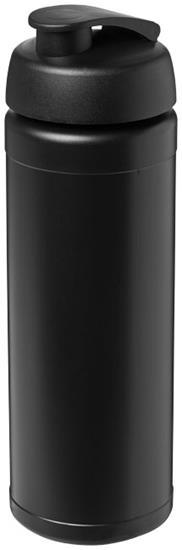 Sportflaska Baseline® Plus 750 ml uppfällbart lock med tryck Svart