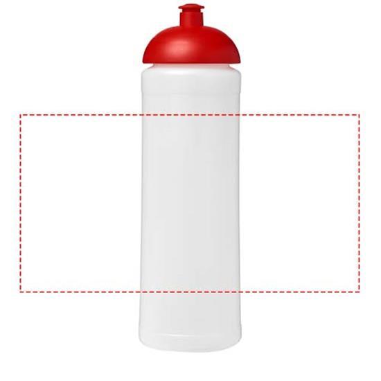Sportflaska Baseline® Plus 750 ml kupollock med tryck Röd