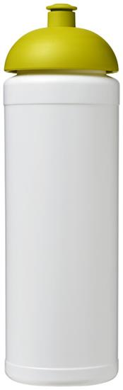 Sportflaska Baseline® Plus grip 750 ml kupollock med tryck Vit/Limegrön