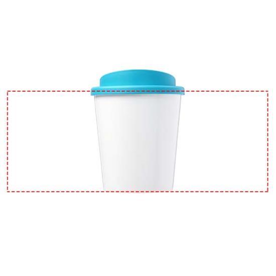 Take-Away Brite-Americano® Espresso 250ml isolerad med tryck Blå