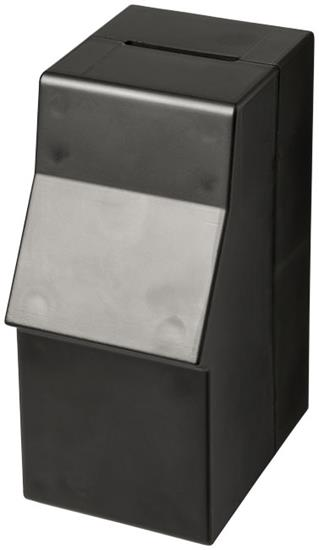 Capital sparbössa utformad som bankomat med tryck Svart