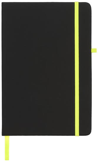 Anteckningsbok Noir Mellan med tryck Svart/Limegrön