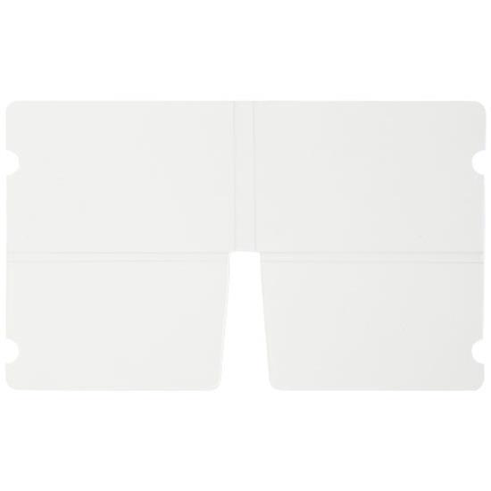 Nest ihopfällbar plånbok för munskydd med tryck Vit