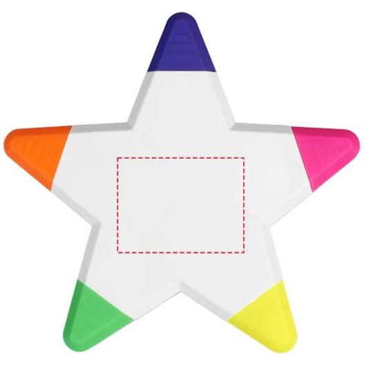 Markeringspennor Solvig stjärna med tryck Vit