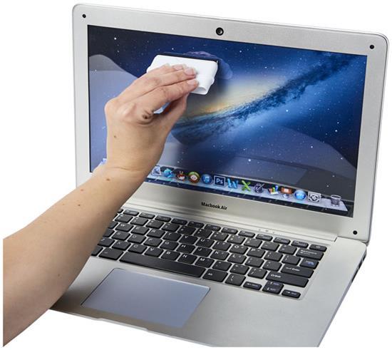 Broom effektiv datorrengöring med tryck Vit
