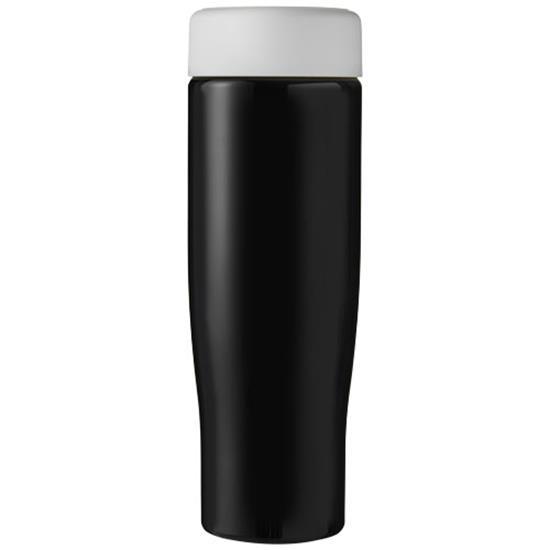 H2O Tempo 700 ml screw cap water bottle med tryck Svart