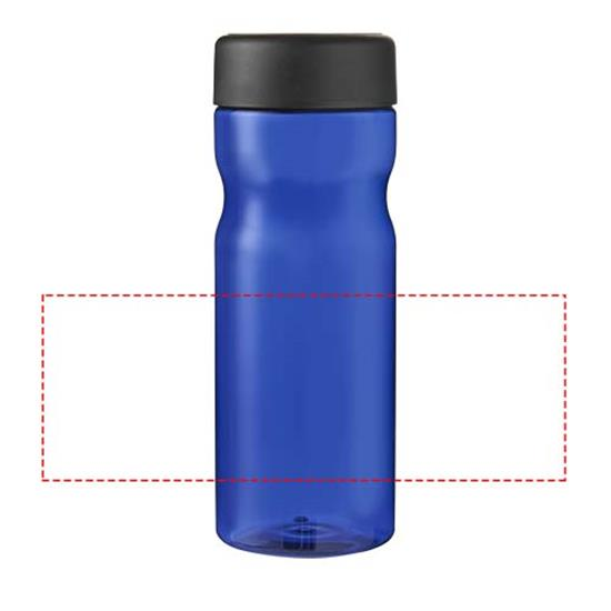 H2O Eco Base 650 ml screw cap water bottle med tryck Blå/Svart
