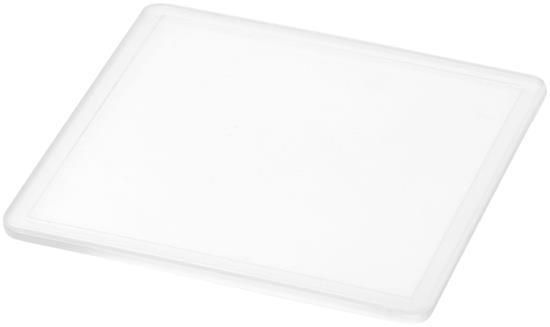 Ellison fyrkantigt glasunderlägg med tryck Vit