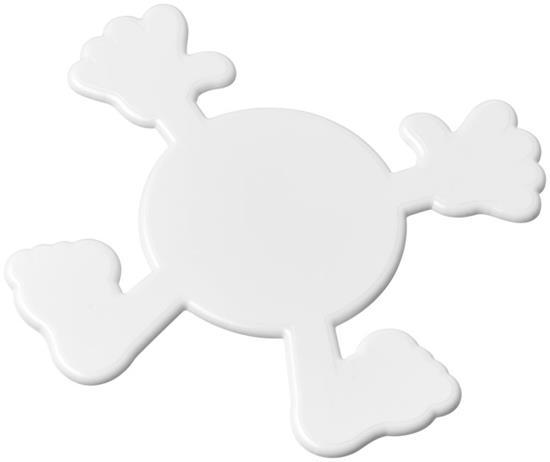 Splatman underlägg i plast med tryck Vit