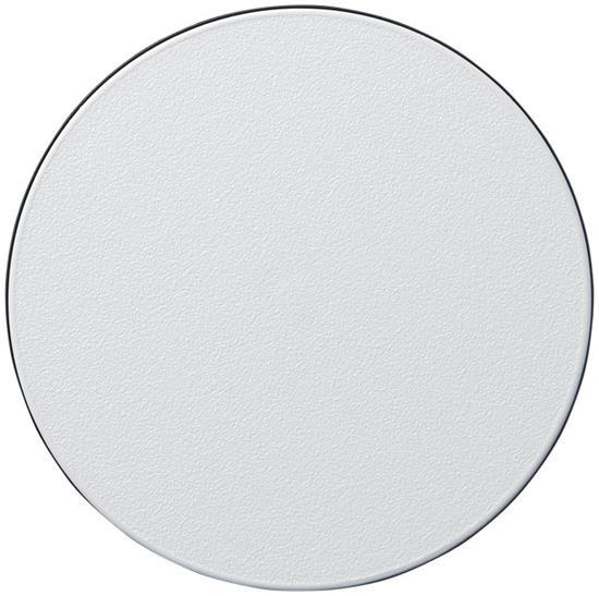 Brite-Mat® runt glasunderlägg med däckmaterial med tryck Svart