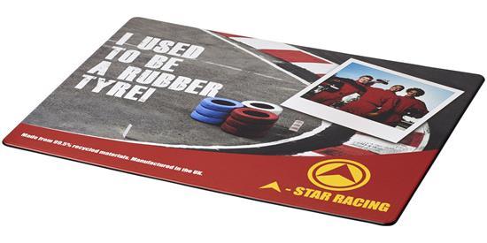 Brite-Mat® musmatta med däckmaterial med tryck Svart