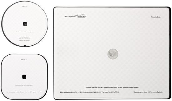 Brite-Mat® Set 1 med musmatta och underlägg med tryck Svart