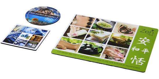Q-Mat® Set 1 med musmatta och underlägg med tryck Svart