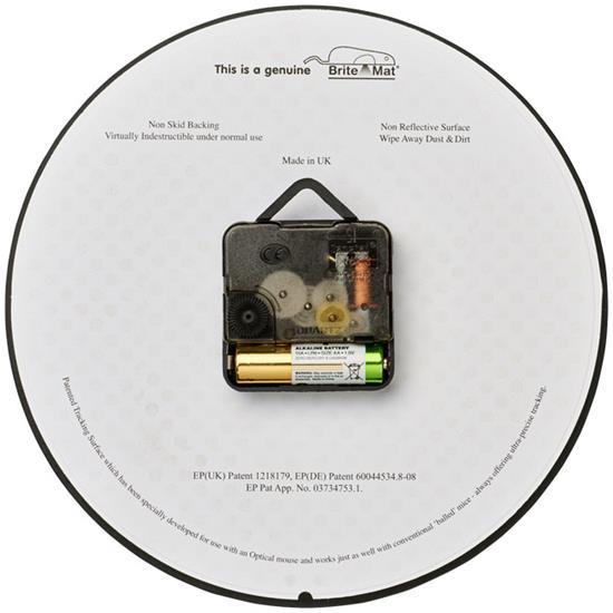 Brite-Clock® rund väggklocka med tryck Vit