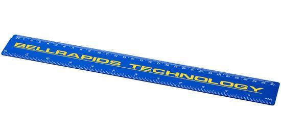 Renzo 30cm plastlinjal med tryck Blå